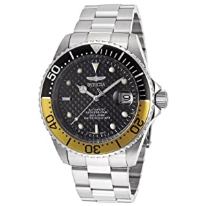 Invicta Men's 15587SYB Pro Diver Analog Display Japanese Automatic Silver Watch