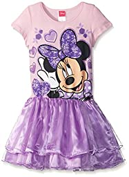 Disney Little Girls\' Minnie in Floral, Multi, X-Small/4/5