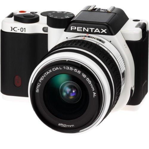 PENTAX デジタル一眼カメラ K-01ズームレンズキット ホワイト/ブラック K-01ZK WH/BK