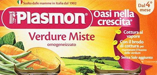Plasmon - Oasi nella crescita, Omogeneizzato, Verdure Miste, dal 4 mese - 160 g