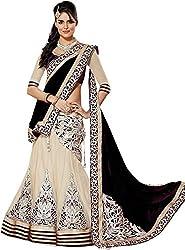 Apka Apna Fashion Women's Net Lehenga Choli (aaf2_Black_Free Size)