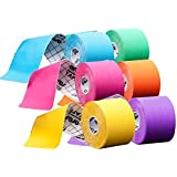 6-Pack ARES Kinesiology Tape Color Pack (Green, Blue, Orange, Pink, Purple and Yellow)