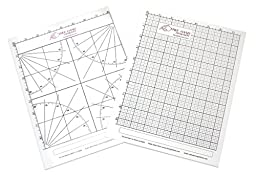 2 x Lettersize \'Freehand Designer\' Sheets. Draw Perfect Straight Lines Templates. 1 x Grid Sheet for Scale Drawings , 1 x Protractor Sheet for Angles.