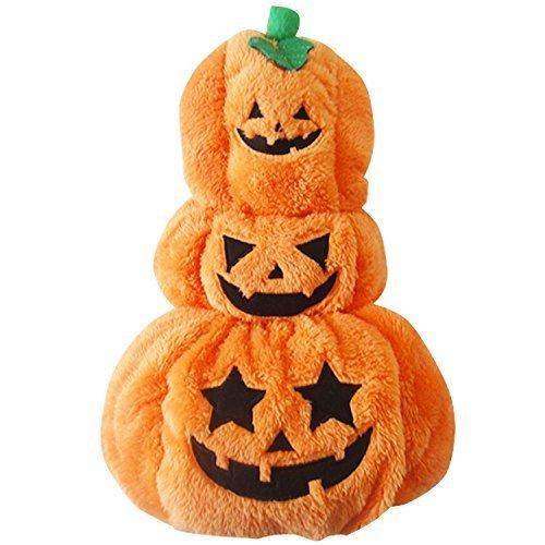 Rayfun ペットウェア ハロウィン Halloween カボチャ 犬 猫 オレンジ 仮装 衣装 コスチューム 7224 (S)