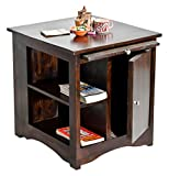 TimberTaste Latika Side Table (Lacquer Finish, Dark Walnut)