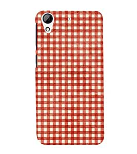 Red Checks Pattern 3D Hard Polycarbonate Designer Back Case Cover for HTC Desire 626 G::HTC Desire 626G Plus::HTC Desire 626G+