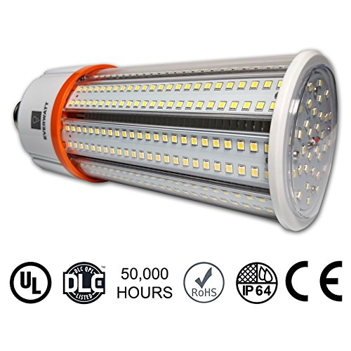 60 Watt LED Corn Light Bulb, Large Mogul E39 Base, 6900 Lumens, 5000K, Replacement for HID/CFL/HPS/200 to 400 Watt Metal Halide (Led Light Corn compare prices)