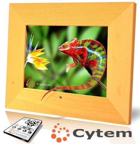 cytem vx8 pro holz hell digitaler bilderrahmen 20 3 cm 8 zoll 800x600 4 3 512mb interner. Black Bedroom Furniture Sets. Home Design Ideas
