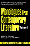 img - for Monologues from Contemporary Literature (Monologue Audition Series) book / textbook / text book