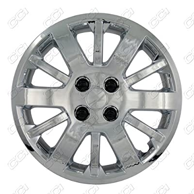 CCI IWC453-15S 15 Inch Bolt On Silver Lacquer Finish Hubcaps - Pack of 4