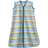 HALO SleepSack 100% Cotton Wearable Blanket, Print Boy, Medium