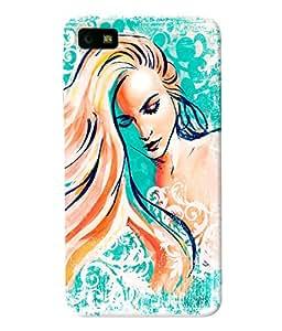 Fuson Long Hairs Girl Back Case Cover for BLACKBERRY Z10 - D3822