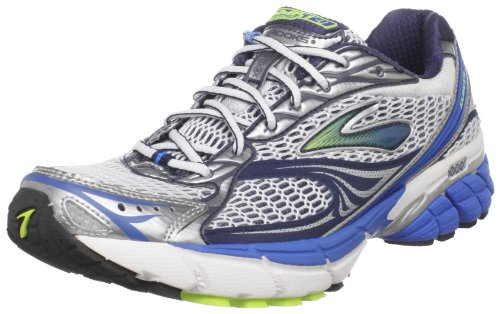 Brooks Men's Ghost 4 M White/Black/Blue/Lime Trainer 1100982E484 8.5 UK, 9.5 US