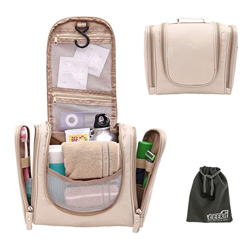 f2807f1ab6 EEEKit Multifunction Foldable Toiletry Makeup Cosmetics Organizer Hanging Bag  Wash Bathroom Storage Travel Kit - Seniors Emporium