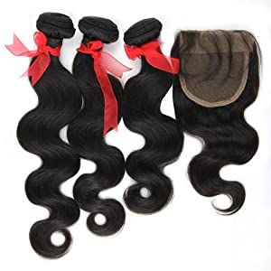 Eayon Hair® 100% Virgin Brazilian Weave for Cheap Body Wave 3pcs 10