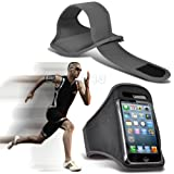 Grey iPhone 5-5s-5c Running Armband Case Cover Holder for Cycling, Jogging, Fitness Training, Boot Camp, Exercise, Sports, Outdoor Activities, Gym Cases Covers and Accessories for New Apple iPhone 5-5s-5c by iChoose®
