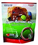 N-Bone 3-Pack Puppy Teething Ring, Chicken Flavor