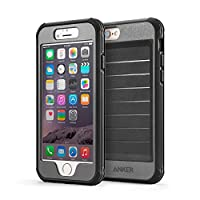 Anker® Ultra Protective Case With Built-in Clear Screen Protector for iPhone 6 (4.7 inch) Drop-Tested, Splash Resistant, Dust Proof Design (Black/Grey)