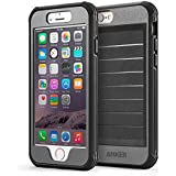 iPhone 6 Case, Anker® Ultra Protective Case With Built-in Clear Screen Protector for iPhone 6 (4.7 inch) Drop-Tested, Dust Proof Design (Black/Grey)