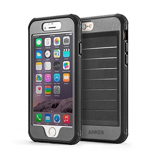 Anker® iPhone 6 4.7インチ用 スクリーンプロテクタ内蔵強力保護ケース 落下試験済み 防水(IPX3:防雨形)・防塵機能付 (ブラック/グレイ)