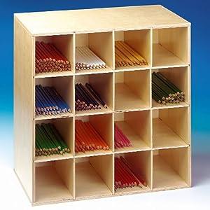 Meuble en bois caisse de rangement pour crayons de for Caisse de rangement jardin