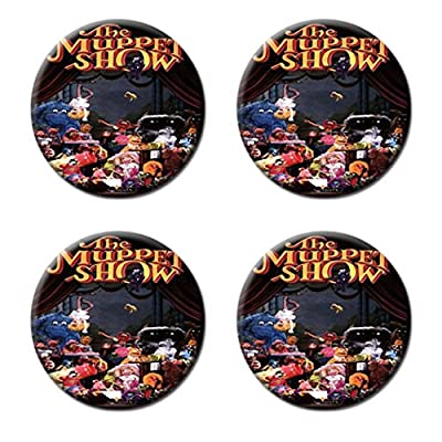 Muppet Show Custom Style Classic Cork Pad Mat-Round Coasters 4 Piece Set Cup Mat Mug Can Water Bottle Drink kichen house