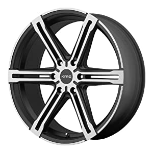 24×9.5 KMC Faction (Satin Black With Machined Face And Register) Wheels/Rims 6×139.7 (KM68624968715)