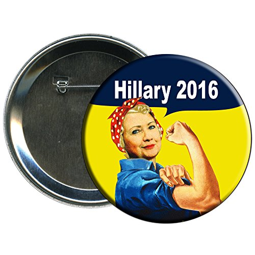 Hillary Clinton Rosie the Riveter 2016 Campaign Button (Election Buttons compare prices)