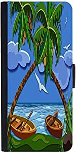 Snoogg Lost Paradise 2464 Graphic Snap On Hard Back Leather + Pc Flip Cover A...