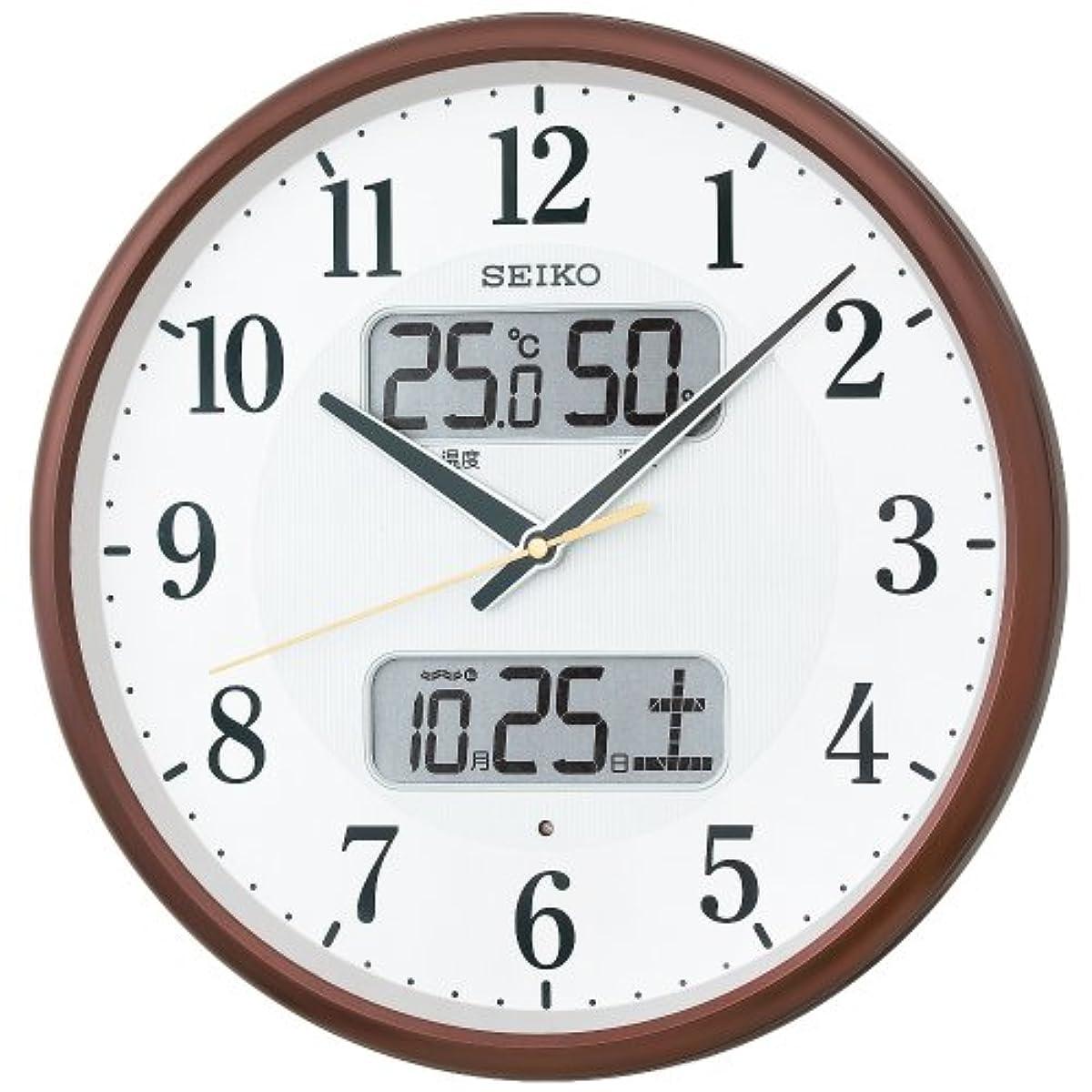세이코 전파 벽 시계 온도 달력 표시 KX383B