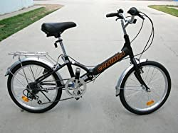 "Columba 20"" Alloy Folding Bike w. Shimano 7 Speed Black (R20A_BLK) from 2KSilver"
