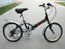 "Columba 20"" Alloy Folding Bike w. Shimano 7 Speed Black (R20A_BLK)"