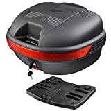 Yescom 30L Motorcycle Tour Tail Box Scooter Trunk Luggage Top Lock Storage Carrier Case