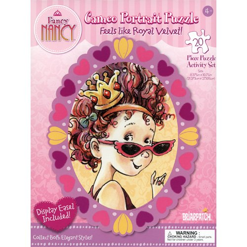 Fancy Nancy Cameo Portrait Puzzle - Purple