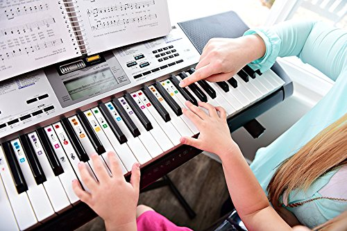 best reusable color piano key note keyboard stickers for adults children 39 s lessons free e. Black Bedroom Furniture Sets. Home Design Ideas
