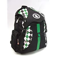 Flow Society Authentic Lacrosse Gear Argyle Green Black White Backpack