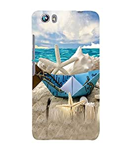 Beach Holidays 3D Hard Polycarbonate Designer Back Case Cover for Micromax Canvas Fire 4 A107