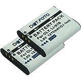 2 x Dot.Foto Batterie de qualité pour Olympus LI-90B, LI-92B - Entièrement 100% compatibles - 3,6v / 1270mAh - garantie de 2 ans [Pour la compatibilité voir la description]