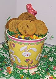Scott\'s Cakes Cookie Combos Special - Brownie Chunk and Pecan 1lb. Yellow Bunny Pail