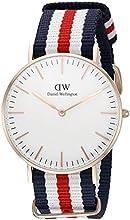 Comprar Daniel Wellington 0502DW - Reloj con correa de acero para mujer, color blanco / gris