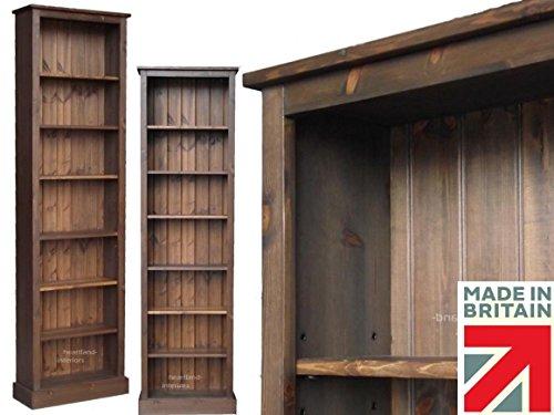 heartland-pine-solid-pine-bookcase-7ft-x-2ft-slim-jim-adjustable-display-shelving-unit-bookshelves-n