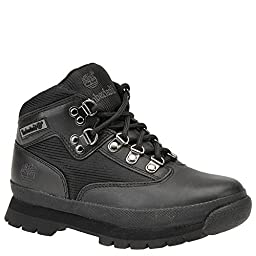 Timberland Euro Hiker Leather and Fabric Boot (Toddler/Little Kid/Big Kid),Black,13.5 M US Little Kid