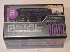Maxell Metal Capsule M-CP-100 Blank Audio Cassette 3 Pack