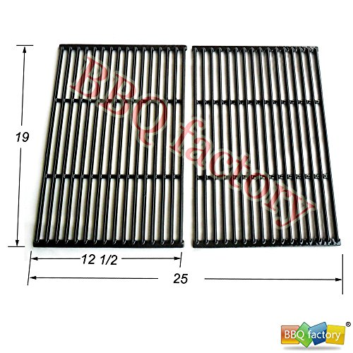 Great Deal! bbq factory JGG662 Replacement Cast Iron Cooking Grid Porcelain coated Set of 2 for Sele...