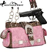 Pink Western Buckle Conceal and Carry Purse