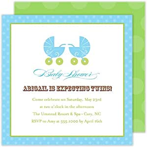 twin baby boy shower invitation health personal care