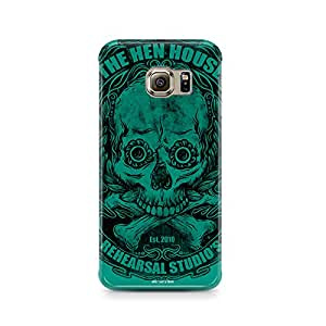 Motivatebox - Samsung S6 Edge Plus Back Cover - Green Skull and Crossbones Polycarbonate 3D Hard case protective back cover. Premium Quality designer Printed 3D Matte finish hard case back cover.