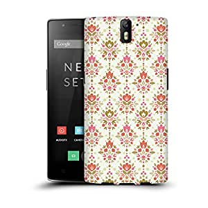 MobileGlaze Designs Wallpaper Deco Print Floral Damask Hard Back Case Cover for ONEPLUS ONE A0001