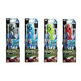 Robo Fish Set de Tiburón con el rojo, azul, verde y gris (4 tiburón, 32 baterías LR44)