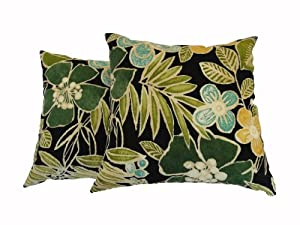 Decorative Pillows Newport Layton Home Fashions : Amazon.com - Newport Layton Home Fashions 2-Pack KE20 Indoor/Outdoor Pillows, Buena Vista, Onyx ...
